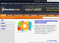 Kuvaruutukaappaus AfterDawn.com:n etusivusta.