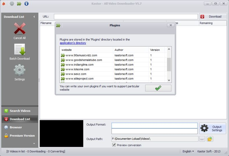Kastor all video downloader 5 1 0