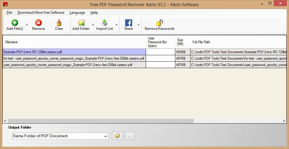 free pdf password remover v2 2