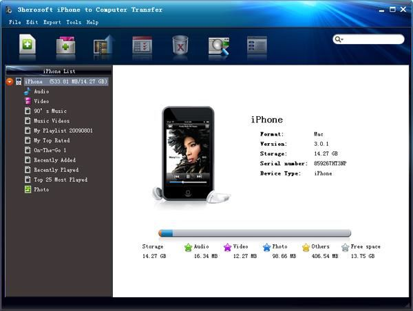3herosoft iphone to computer transfer v4 0 0 1216