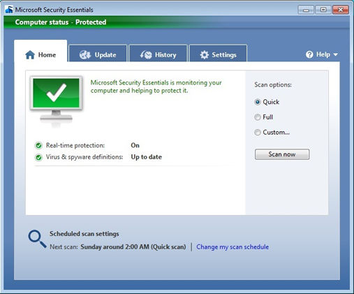 скачать Microsoft Essential Security для Windows 7 - фото 3