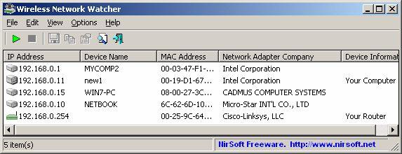 Download NirSoft Wireless Network Watcher v2.10 (freeware ...