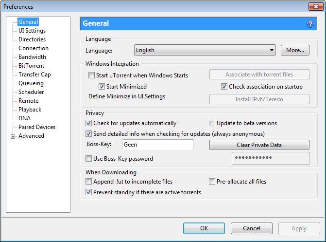 Torrent 3.1.2 build 26745