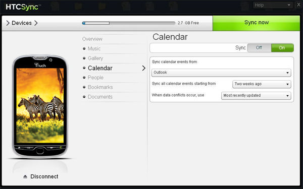 Htc Sync скачать для Windows 7 - фото 4
