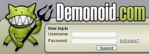 Demonoid tracker taken down