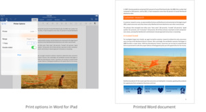 Office for iPad adds printing feature, more