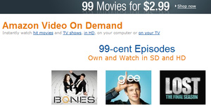Amazon begins selling TV episodes for 99 cents