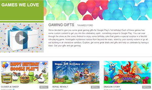 Google Play celebrating first anniversary with special offerings