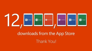 Microsoft: 12 million Office for iPad downloads in first week