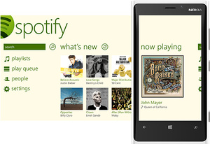 Spotify now on Windows Phone 8