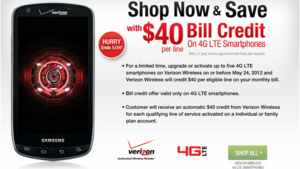 Verizon offering bill credit on new 4G phone purchases