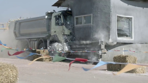 Volvo lets a 4 year old drive and trash a truck with RC