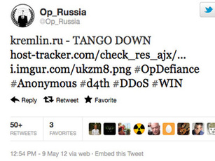 Russian 'Anonymous' take down Kremlin sites