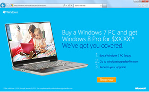 Microsoft starts Windows 8 promo for new Windows 7 PC buyers
