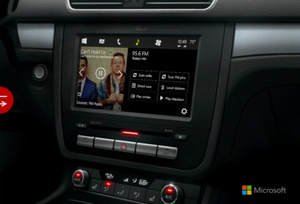 Microsoft unveils their own new Windows interface for cars, rivaling Apple's CarPlay